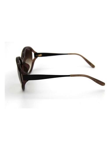 Bottega Veneta B.V 288/F/S Cr6 63 Cc Oval Camlı Kemik Gövde Kadın Güneş Gözlüğü Kahve
